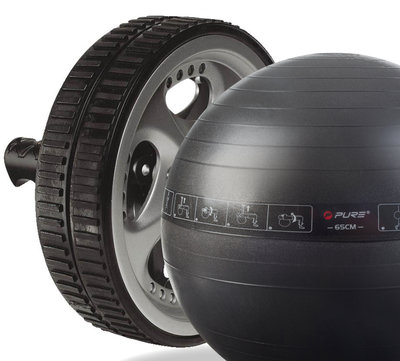 Swiss Ball & Ab Wheel Pack